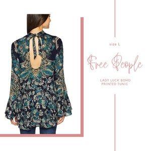 Free People Tops - NWT Free People Lady Luck Boho Printed Tunic